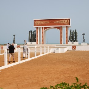 2011-004-07 Benin, Ouidah - Gate of no Return, a monument to those who were enslaved and taken from this shore to the ships