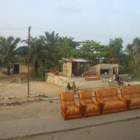 2011-04-07 Benin, Cotonou - furniture for sale on the side of the road in the city