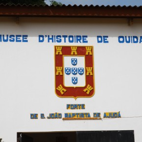 2011-04-07 Benin, Ouidah Museum of slavery; this is the part of the Slave Coast, as it was called; named for St. John the Baptist. This building was originally the fort which handled the transactions and defense of slavers.