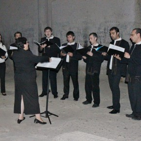2011-09-20 Armenia Geghard Monastery choir