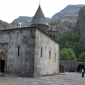 2011-09-20 Armenia Geghard Monastery main church