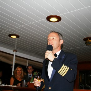2008-12-24 Sea Cloud II General Christmas Eve - Our captain addressing us on Christmas Even