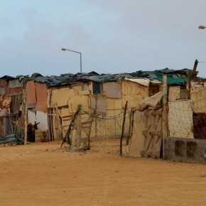 2009-01-21 Swakopmund, Namibia, Township, Homes of the African survivors of the 1910 genocide - the first of the century for the Germans.