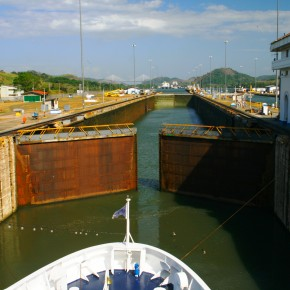 2009 03 13 Panama Canal - Spirit of Adventure passes through the locks