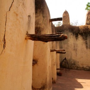 2009-1-19 Bobo Dioulasso, interior courtyard of main city mosque