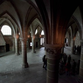 2010-05-07 Mont St. Michel, France interior halls of the monastery where the monks lived