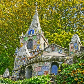 2010-05-08 Guernsey, United Kingdom, the Little Church is a tiny structure built of broken antique crockery