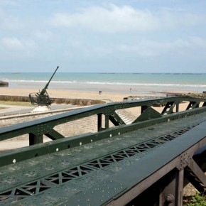"2010-05-09 Arromance, Normandy, France, Remains ""Mulberry Harbour"" an prefabricated landing site for allied troops built of giant pontoons by the British and Welsh"