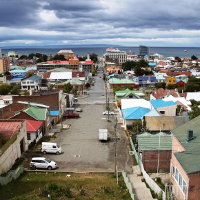 2010-12-26 Chile, Punta Arenas - View from the lookout toward the Straight of Magellan