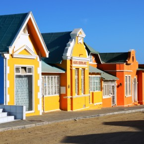 2011-03-27 Namibia, Luderitz is a small German town situated in the desert. Houses were brightly painted to bring color to the otherwise drab desert tan