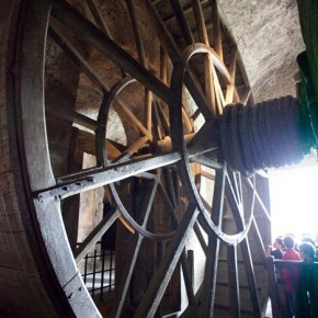 Mont-St.-Michel-France-wheel-hoist-up-supplies