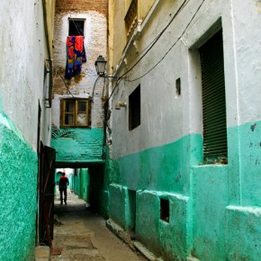 Narrow alley in the Median in Tetouan