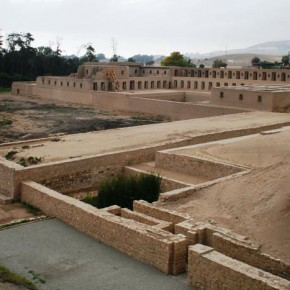 Peru, Pachacamac 2008-10-31 - The newly reconstructed Accla Huasi is seen below. This was the Inca institution where selected girls from all over the empire were educated here and then either distributed to nobility as wives or sent to be sacrificed in th