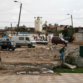 Slums outside Casablanca, Morocco
