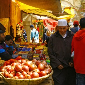 Some areas of the Tetouan Medina are designated for food stalls