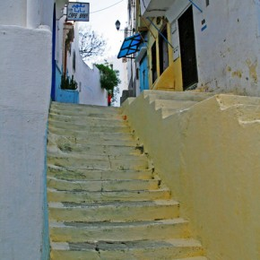 Steps in the Medina of Tetouan with an Andalucian style