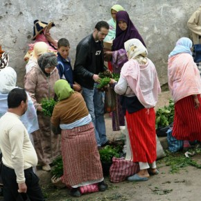 Vegetable vendors on the Street in Tetouan