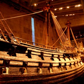 2008-08-22 Sweden, Stockholm - the Vasa, a perfectly preserved ship that sank in 1628 just 100 meters from where it was launched.