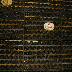 2010-04-29 Oporto, Portugal, the Ferreira Winery, storage of vintage port wines