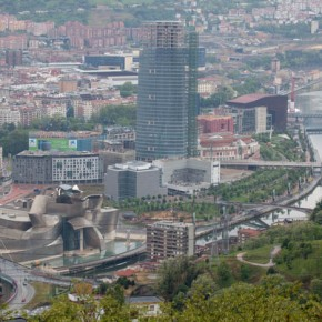 2010-05-02 Bilbao, Spain, Basque Country panaromic view of the city from the lookout at Etxebarria park