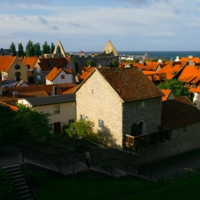 2009-09-24 Visby, Gotland, Sweden, From the East on the Ridge