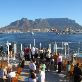 2011-03-25 South Africa, Cape Town - Sail away party as we depart for our West Africa cruise from Cape Town