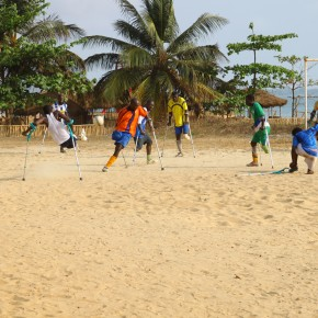 2011-04-13 Sierra Leone, Freetown - a soccer game by amputee victims of the civil wars