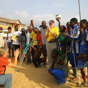 2011-04-13 Sierra Leone, Freetown - after the soccer game by amputee victims of the civil wars