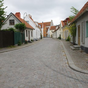 2011-06-20 Sweden Visby Gotland street on a rainy day