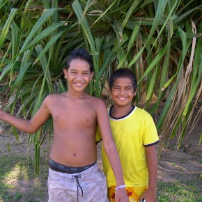 Children at Papetoai, Moorea