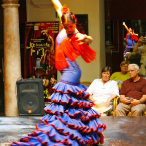 Flamenco performance at the Institute of Flamenco, Seville
