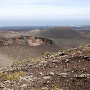 Lava fields of Timanfaya Park, Lanzarote, Canary Islands