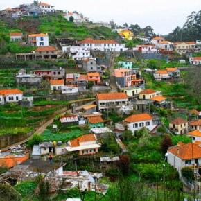 Madeira is formed by old volcanoes and therefore hilly and with rich soil